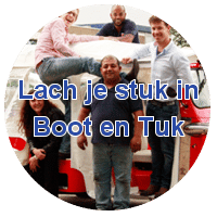 Lach je stuk in Boot en Tuk